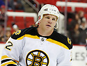 Boston Bruins Shawn Thornton (22) during a game against the Carolina Hurricanes on January 28, 2013 at PNC Arena in Charlotte, NC. The Bruins beat the Hurricanes 5-3.