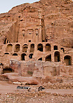 """Urn Tomb,"" Petra, Jordan.  This incredible structure was hand-carved from the rock of the valley wall, with a double layer of vaults below.  Probably constructed in about AD 70 for Nabatean King Malichos II.  © Rick Collier"