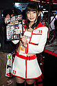 "An exhibitor poses for a picture during Anime Japan 2015 on March 21, 2015 in Tokyo, Japan. Anime Japan 2015 brings together all aspects of the ""anime"" industry offering an opportunity for visitors get close to creators, voice actors, idol groups, and cosplayers, and to learn about the industry. This is the second year that the exhibition is being held at Tokyo Big Sight. Organizers estimated that approximately 100,000 visitors attended in 2014 and similar huge numbers are expected this year. The exhibition is open on March 21st and 22nd. (Photo by Rodrigo Reyes Marin/AFLO)"