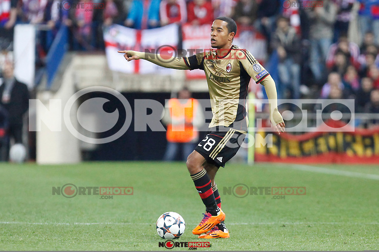 Milan´s Urby Emanuelson during 16th Champions League soccer match at Vicente Calderon stadium in Madrid, Spain. January 06, 2014. (ALTERPHOTOS/Victor Blanco)