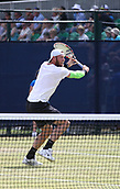 June 16th 2017, Nottingham, England; ATP Aegon Nottingham Open Tennis Tournament day 5;  Sam Groth of Australia prepares another volley as he defeats John-Patrick Smith of Australia in two sets