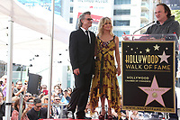 HOLLYWOOD, CA - MAY 04: Kurt Russell, Goldie Hawn and Quentin Tarantino pictured at the ceremony honoring Goldie Hawn and Kurt Russell with a double star ceremony on The Hollywood Walk of Fame on May 4, 2017 in Hollywood, California. Credit: Faye Sadou/MediaPunch