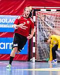 Eskilstuna 2014-10-03 Handboll Elitserien Eskilstuna Guif - Alings&aring;s HK :  <br /> Eskilstuna Guifs Richard &Aring;kerman jublar efter ett m&aring;l<br /> (Foto: Kenta J&ouml;nsson) Nyckelord:  Eskilstuna Guif Sporthallen IFK Sk&ouml;vde HK jubel gl&auml;dje lycka glad happy