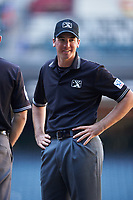 Umpire Nate Tomlinson before an Instructional League game between the Oakland Athletics and Arizona Diamondbacks on October 15, 2016 at Chase Field in Phoenix, Arizona.  (Mike Janes/Four Seam Images)