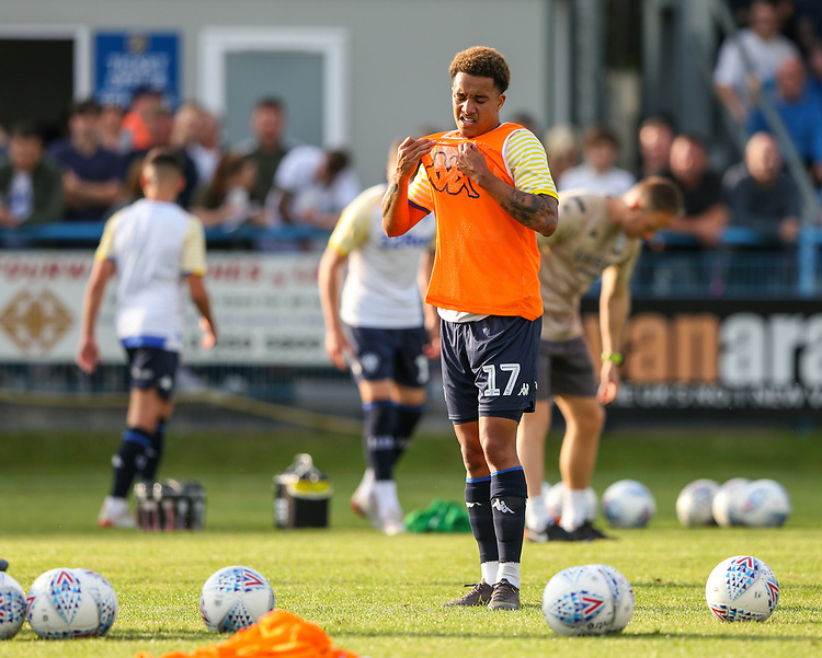 Leeds United's Helder Costa warms up<br /> <br /> Photographer Alex Dodd/CameraSport<br /> <br /> Football Pre-Season Friendly - Guiseley v Leeds United - Thursday July 11th 2019 - Nethermoor Park - Guiseley<br /> <br /> World Copyright © 2019 CameraSport. All rights reserved. 43 Linden Ave. Countesthorpe. Leicester. England. LE8 5PG - Tel: +44 (0) 116 277 4147 - admin@camerasport.com - www.camerasport.com