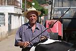 Lin-Pogradec-Albania - August 02, 2004---A man at/from the village of Lin; region/village of project implementation by GTZ-Wiram-Albania (German Technical Cooperation, Deutsche Gesellschaft fuer Technische Zusammenarbeit (GTZ) GmbH); people-portrait---Photo: Horst Wagner/eup-images