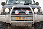 Driving in the Namib during the rainy season is a muddy affair.