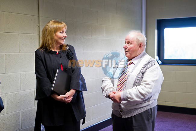 The Mill, Enterprise Centre, in Drogheda, is visited by Deirdre Ann Roche and Stephen Johnston, of IFS.<br /> Picture: Shane Maguire / www.newsfile.ie
