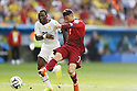 (L-R) Kwadwo Asamoah (GHA), Cristiano Ronaldo (POR), JUNE 26, 2014 - Football / Soccer : FIFA World Cup Brazil<br /> match between Portugal and Ghana at the Estadio Nacional in Brasilia, Brazil. (Photo by AFLO) [3604]