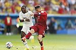 (L-R) Kwadwo Asamoah (GHA), Cristiano Ronaldo (POR), JUNE 26, 2014 - Football / Soccer : FIFA World Cup Brazil<br /> match between Portugal and Ghana at the Estadio Nacional in Brasilia, Brazil. (Photo by AFLO) [3604]