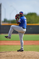 Texas Rangers pitcher Demarcus Evans (71) during an instructional league game against the Seattle Mariners on October 5, 2015 at the Surprise Stadium Training Complex in Surprise, Arizona.  (Mike Janes/Four Seam Images)