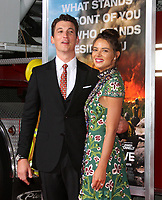 08 October 2017 - Los Angeles, California - Miles Teller and Keleigh Sperry. &ldquo;Only The Brave&rdquo; Premiere held at the Regency Village Theatre in Los Angeles. <br /> CAP/ADM<br /> &copy;ADM/Capital Pictures