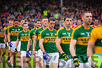 Jonathan Lyne Kerry players in the pre match parade before the Munster Final at Fitzgerald Stadium, Killarney on Saturday evening.