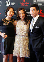 Actress Gina Kim (L), actress Michelle Yeoh and actor Chin Han (L) during the 61 San Sebastian Film Festival, in San Sebastian, Spain. September 21, 2013. (ALTERPHOTOS/Victor Blanco) /NortePhoto