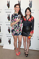 Pilar Rubio and Maria Escote pose during a Sony Xperia event in Madrid, Spain. July 13, 2015. (ALTERPHOTOS/Victor Blanco)
