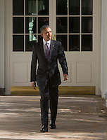 United States President Barack Obama walks from the Colonnade at The White House Washington, DC to the Oval Office, November 8, 2016.U.S. President Barack Obama walks the Colonnade at The White House Washington, DC to the Oval Office, November 8, 2016.<br /> Credit: Chris Kleponis / Pool via CNP /MediaPunch
