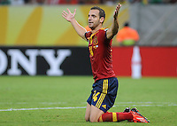 16.06.2013 Recife, Brazil. Roberto Soldado during the Confederations Cup Group B game between Spain and Uruguay from Arena Pernambuco.
