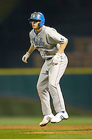 Niko Gallego #2 of the UCLA Bruins takes his lead off of first base versus the Rice Owls in the 2009 Houston College Classic at Minute Maid Park February 27, 2009 in Houston, TX.  The Owls defeated the Bruins 5-4 in 10 innings. (Photo by Brian Westerholt / Four Seam Images)