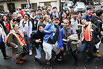 "Students attend The Rockefeller Foundation and The Gilder Lehrman Institute of American History sponsored High School student #EduHam matinee performance of ""Hamilton"" at the Richard Rodgers Theatre on 4/26/2017 in New York City."