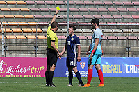 Chris Hamilton of Scotland U21's is shown a yellow card during Turkey Under-21 vs Scotland Under-21, Tournoi Maurice Revello Football at Stade Francis Turcan on 9th June 2018