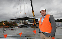 Parkd MD Peter McUtchen at the construction site of Australia's first prefabricated car park in Perth, August 2, 2018. photo by Trevor Collens