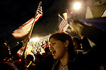 Stephanny Tamayo, 16, at the National Day of Action immigrant rights demonstration in Los Angeles, CA on Monday, April 10, 2006.<br />