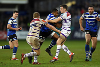Semesa Rokoduguni of Bath Rugby takes on the Leinster defence. Gallagher Premiership match, between Bath Rugby and Leicester Tigers on December 30, 2018 at the Recreation Ground in Bath, England. Photo by: Patrick Khachfe / Onside Images