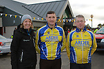 Rachel Ormrod, Cycling Ireland, Eamon Martin, Chair of Ardee Cycling Club and Ollie Arthur of Ardee Cycling Club at the Operation Transformation 10km cycle from Ardee Parish Centre.