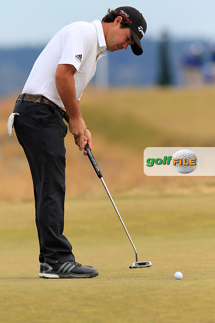 Brian HARMAN (USA) putts on the 17th green during Thursday's Round 1 of the 2015 U.S. Open 115th National Championship held at Chambers Bay, Seattle, Washington, USA. 6/18/2015.<br /> Picture: Golffile | Eoin Clarke<br /> <br /> <br /> <br /> <br /> All photo usage must carry mandatory copyright credit (&copy; Golffile | Eoin Clarke)