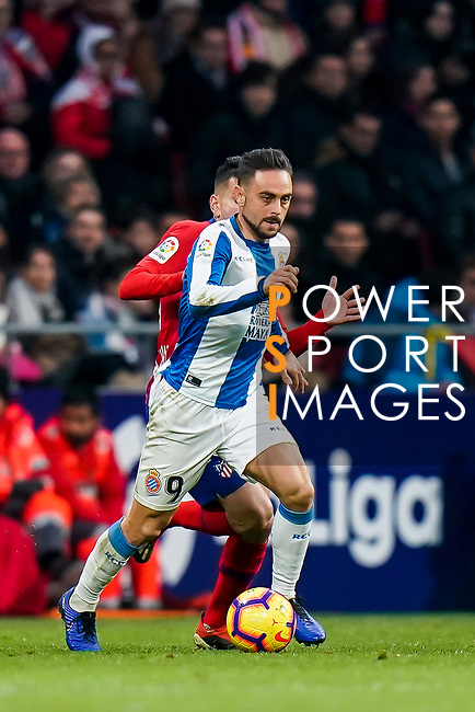 Sergio Garcia de la Fuente, S Garcia, of RCD Espanyol in action during the La Liga 2018-19 match between Atletico de Madrid and RCD Espanyol at Wanda Metropolitano on December 22 2018 in Madrid, Spain. Photo by Diego Souto / Power Sport Images