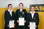 Girls Squash finalists Catherine Graham, Lana Harrison & Nicola Blake. ASB College Sport Young Sportperson of the Year Awards 2007 held at Eden Park on November 15th, 2007.