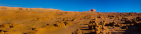 Panoramic view, Goblin Valley State Park, near Hanksville, Utah USA.