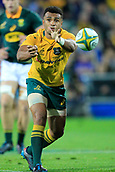 9th September 2017, nib Stadium, Perth, Australia; Supersport Rugby Championship, Australia versus South Africa; Will Genia of the Australian Wallabies passes the ball from the ruck during play in the second half