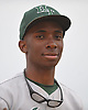 Jahsiah Greene #42, Holy Trinity centerfielder, poses for a headshot after a CHSAA varsity baseball game against St. Dominic at Charles Wang Athletic Complex in Muttontown on Friday, Apr. 22, 2016. (Note to editor: Per Gregg Sarra, subject is to be featured as an upcoming high school athlete of the week)