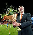 Nederland, Rotterdam, 15 oktober 2012.Interland.Jong Oranje-Jong Slowakije (2-0).Cor Pot, trainer-coach van Jong Oranje is blij na afloop van de wedstrijd