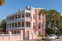 The historic Palmer Home, an antebellum mansion on Battery Row, is used as a Bed-and-Breakfast in Charleston, South Carolina.