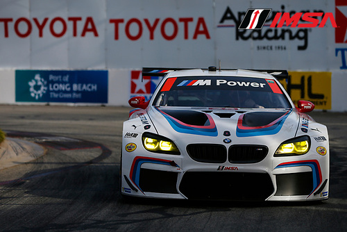 2017 IMSA WeatherTech SportsCar Championship<br /> BUBBA burger Sports Car Grand Prix at Long Beach<br /> Streets of Long Beach, CA USA<br /> Friday 7 April 2017<br /> 25, BMW, BMW M6, GTLM, Bill Auberlen, Alexander Sims<br /> World Copyright: Jake Galstad/LAT Images