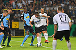 09.08.2019, BWT-Stadion am Hardtwald, Sandhausen, GER, DFB Pokal, 1. Runde, SV Sandhausen vs. Borussia Moenchengladbach, <br /> <br /> DFL REGULATIONS PROHIBIT ANY USE OF PHOTOGRAPHS AS IMAGE SEQUENCES AND/OR QUASI-VIDEO.<br /> <br /> im Bild: Denis Zakaria (#8, Borussia Moenchengladbach) gegen Philipp Förster / Foerster / Forster (SV Sandhausen #28)<br /> <br /> Foto © nordphoto / Fabisch