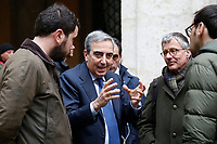 The President of Senate Immunity panel Maurizio Gasparri<br /> Rome February 19th 2019. Senate immunity commission at Sant'Ivo alla Sapienza palace.  The commission voted to retain immunity from prosecution for the Minister of Internal Affairs Matteo Salvini. Last August 20th a ship, carrying 177 migrants (among them many minors) docked in the harbour of Catania but Minister Salvini took the decision to block migrants of Diciotti ship at sea. For that reason the magistracy accused the minister of kidnapping.<br /> Foto Samantha Zucchi Insidefoto