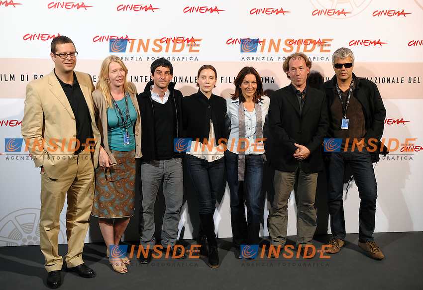 Cristoph Bach, Franziska Petri, Connie Walther, Ulrich Noethen (3r to 7th)<br /> Third edition of the Rome International film festival<br /> Roma 24/10/2008 <br /> Photocall &quot;Schattenwelt&quot; (The Long Shadows)<br /> Photo Andrea Staccioli Insidefoto