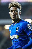 Lyle Taylor of AFC Wimbledon during the Sky Bet League 1 match between MK Dons and AFC Wimbledon at stadium:mk, Milton Keynes, England on 13 January 2018. Photo by David Horn.