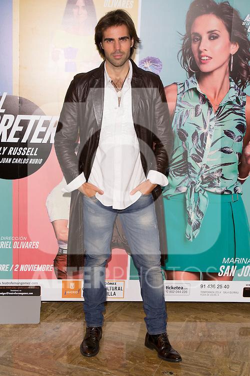 "angel Caballero attends the Premiere of the Theater Play ""Al Final de la carretera"" at Fenan Gomez Theatre in Madrid, Spain. October 7, 2014. (ALTERPHOTOS/Carlos Dafonte)"