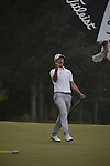 AUGUSTA, GA - MARCH 23: Adam Scott of Australia celebrates after sinking a 12 foot birdie-putt to win the 2013 Masters Tournament held in Augusta, Georgia at Augusta National Golf Club on Sunday, April 14, 2013. (Photo by Donald Miralle for Golf Digest..