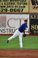 Ivan Vela (3) of the Ogden Raptors during the game against the Missoula Osprey in Pioneer League action at Lindquist Field on August 4, 2014 in Ogden, Utah.  (Stephen Smith/Four Seam Images)
