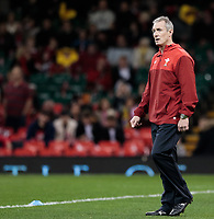 Wales' Backs Coach Rob Howley during the pre match warm up<br /> <br /> Photographer Simon King/CameraSport<br /> <br /> International Rugby Union - 2017 Under Armour Series Autumn Internationals - Wales v Australia - Saturday 11th November 2017 - Principality Stadium - Cardiff<br /> <br /> World Copyright &copy; 2017 CameraSport. All rights reserved. 43 Linden Ave. Countesthorpe. Leicester. England. LE8 5PG - Tel: +44 (0) 116 277 4147 - admin@camerasport.com - www.camerasport.com