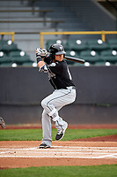 Lansing Lugnuts designated hitter Bo Bichette (10) at bat during a game against the Clinton LumberKings on May 9, 2017 at Ashford University Field in Clinton, Iowa.  Lansing defeated Clinton 11-6.  (Mike Janes/Four Seam Images)