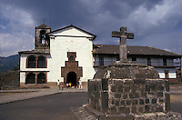 The 16th-century Iglesia de Santiago Apostol in the village of Angahuan, Michoacan, Mexico