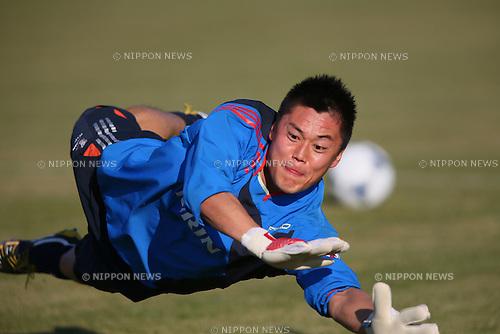 Eiji Kawashima (JPN), .OCTOBER 14, 2012 - Football /Soccer : .Japan national team training .at Akademia Wychowania Fizycznego We Wroclawiu, .Wroclaw, Poland. .(Photo by YUTAKA/AFLO SPORT) [1040]
