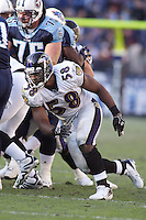 Ravens linebacker Dennis Haley in action against the Titans at LP Field in Nashville, Tennessee on November 12, 2006. Baltimore won 27-26.