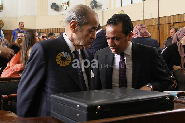 Egyptian Lawyer Farid el-Deeb attends the trial of former Egyptian president Hosni Mubarak at the High Court where Mubarak's trial will take place, in Cairo, Egypt, April 7, 2016. Photo by Stranger